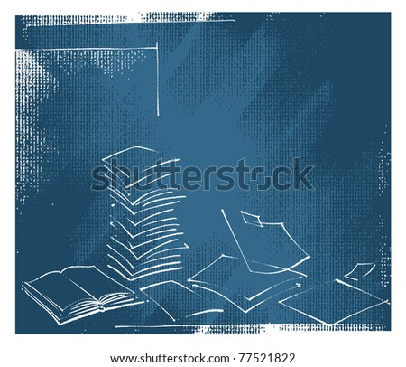 sheets of paper design, artistic background, grunge vector - stock vector