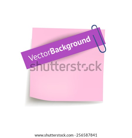 Sheets paper with clip. Vector illustration - stock vector