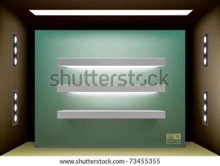 Shelf lightning for interior design, eps10 vector - stock vector