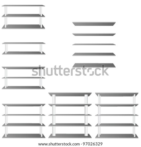 shelve for room decoration vector illustration on white - stock vector