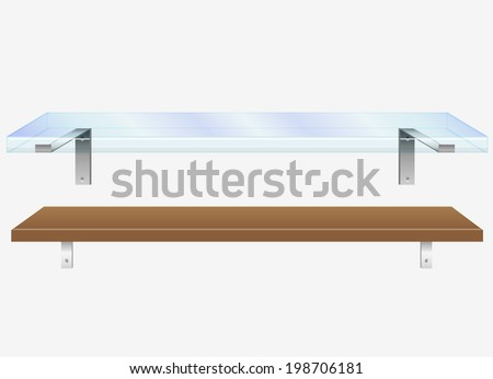 Shelves - stock vector