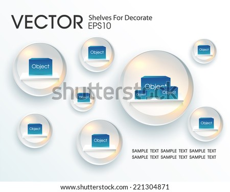 Shelves in the shape of a circle for decorate  - stock vector