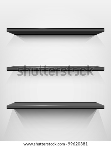 Shelves with place for your exhibits, vector illustration, eps10, 2 layers, easy editable - stock vector