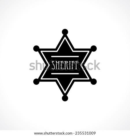 sheriff badge - stock vector