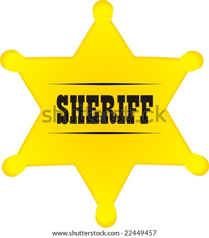 Sheriff Star Badge Template Sheriff badge vector - stock