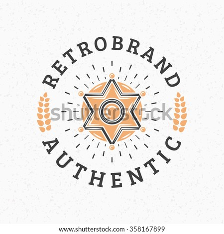Set hipster vintage labels logotypes badges stock vector 358168469 sheriff badge vintage retro design elements for logotype insignia badge label pronofoot35fo Images
