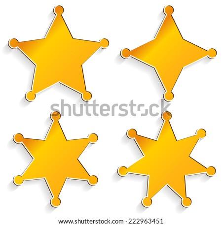 Sheriff's badges - stock vector