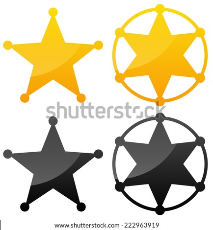 Sheriff's badges - stock vector