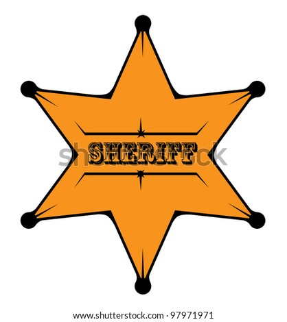 Sheriff star vector - stock vector