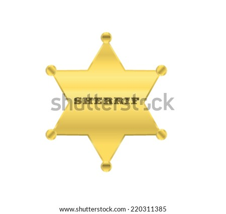sherrif golden star vector design - stock vector