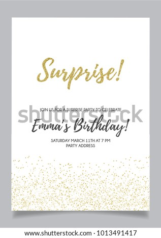 Shh surprise party invitation card vector stock vector 1013491417 shh surprise party invitation card vector stock vector 1013491417 shutterstock stopboris Image collections