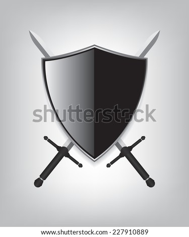 Shield and sword - stock vector
