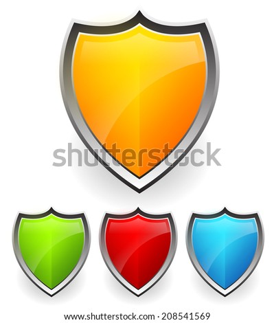 Shield, armor vector - stock vector