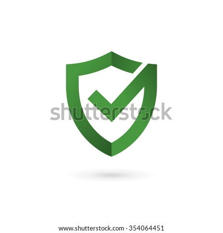 M Rank Shield Check Mark Logo Icon