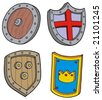 Shield collection - vector illustration. - stock photo