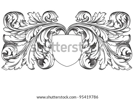 shield decoration - stock vector
