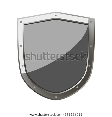 shield for protection and defense. Shield as a symbol of strength and courage. - stock vector