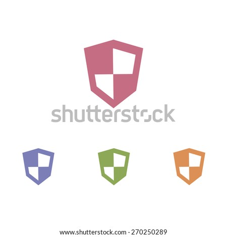 Shield icon - stock vector
