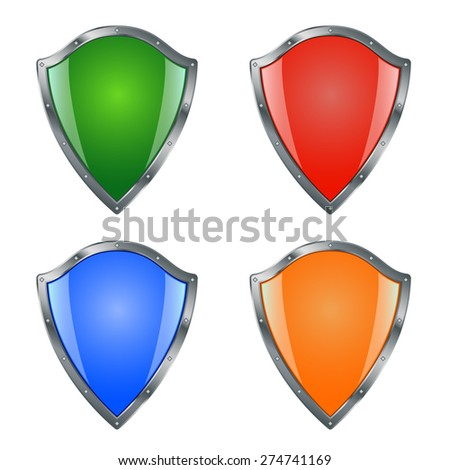 shield icon collection. your safety - stock vector