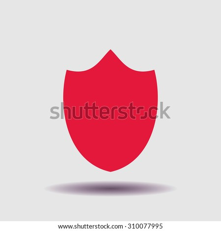 Shield icon, vector illustration. Flat design style - stock vector