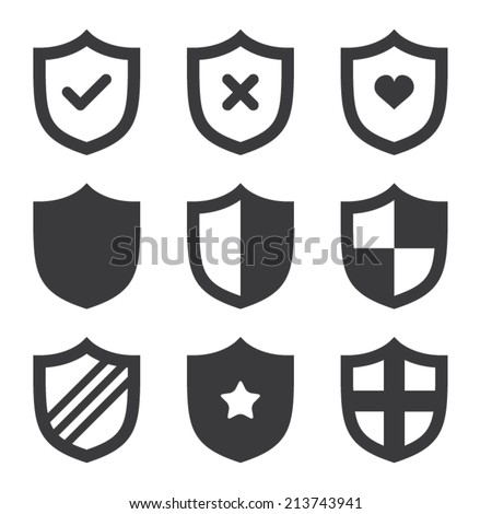 Shield Icons - stock v...