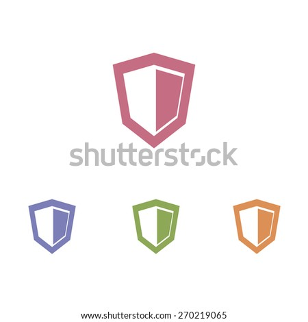 Shield icons - stock vector