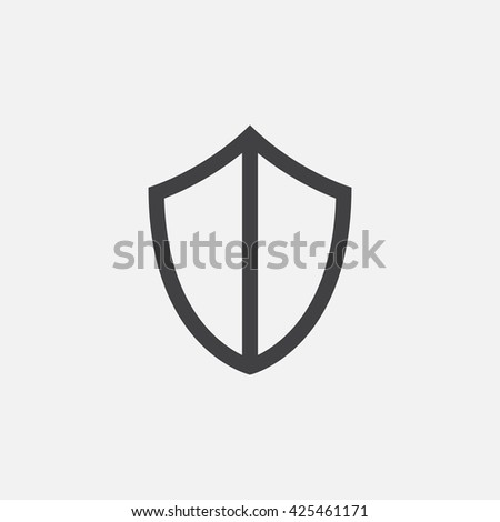shield line icon, outline vector logo illustration, linear pictogram isolated on white
