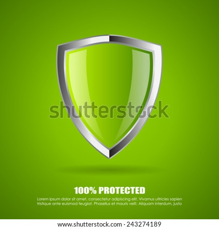 Shield protection icon - stock vector