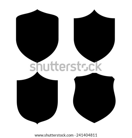 Shield shape - stock vector