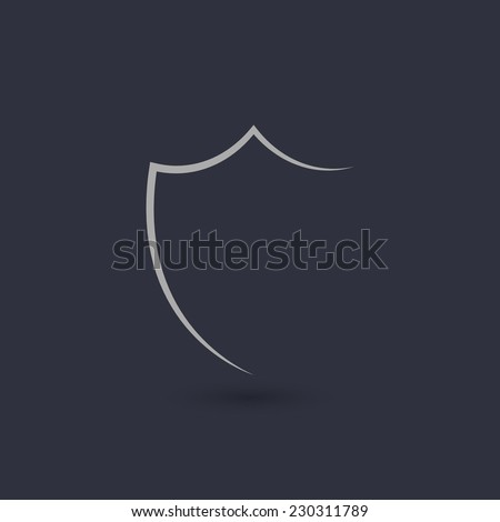 Shield silhouette icon. Vector illustration - eps10 - stock vector