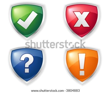 Shield vector icons - stock vector