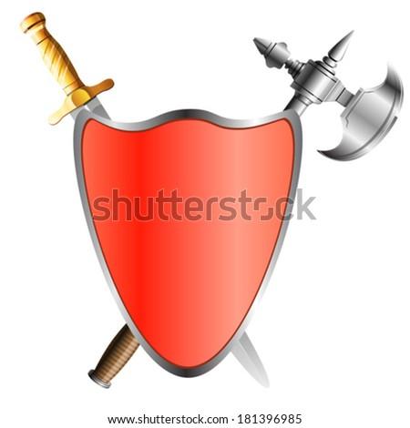 shield, vector illustration - stock vector