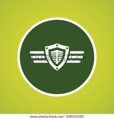 Shield & Wings Icon - stock vector