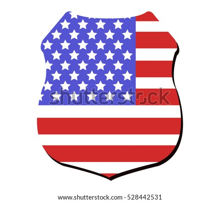 shield with US flag