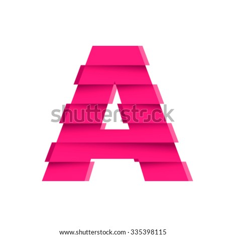 Shifted font, letter A - stock vector
