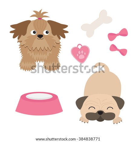 Cute Cartoon Shih Tzu Stock Photos Royalty Free Images