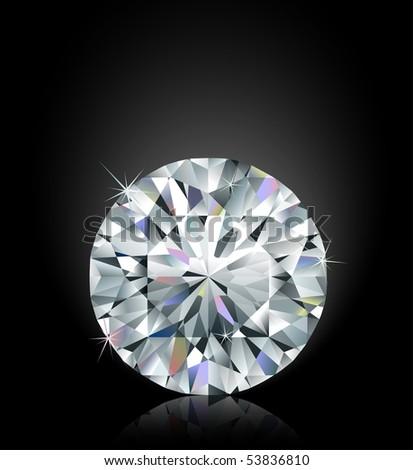 Shimmering diamond - stock vector