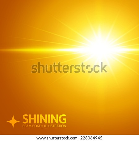 Shining beam illustration. Vector.