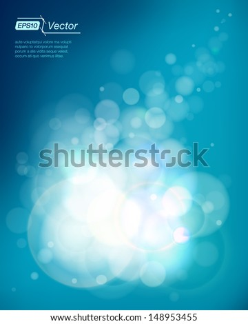 Shining bubbles background - stock vector