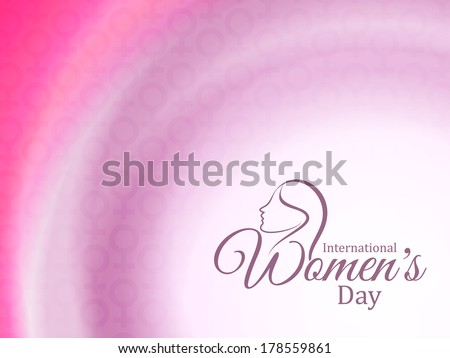 shining elegant light pink color background design for International Women's day. vector illustration - stock vector