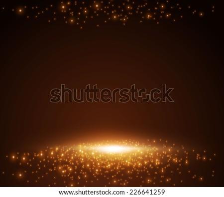 Shining empty space. Vector illustration - stock vector