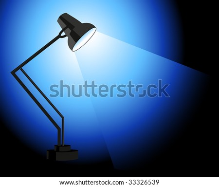 Shining lamp, vector illustration, EPS file included