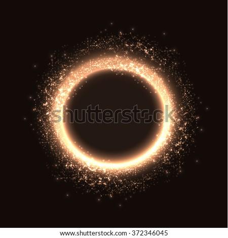 Shining magic ring frame vector background. Eps10. - stock vector