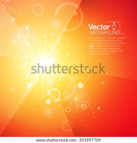 Shining on abstract geometric background - stock vector