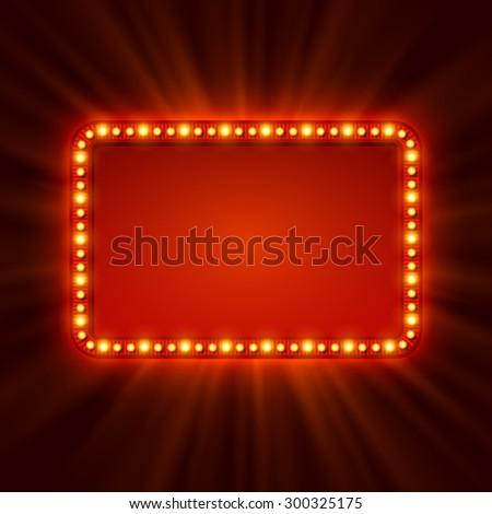 Shining retro light banner.  Vector illustration EPS 10 - stock vector