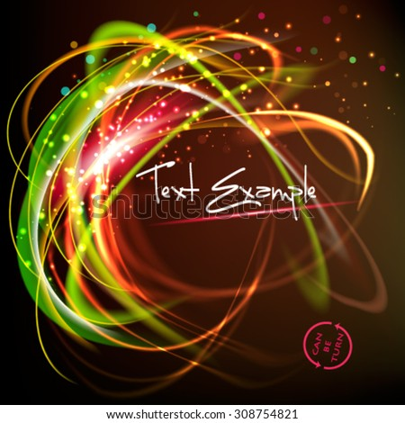 Shining speed abstract vector background. Can be turned in any side - stock vector