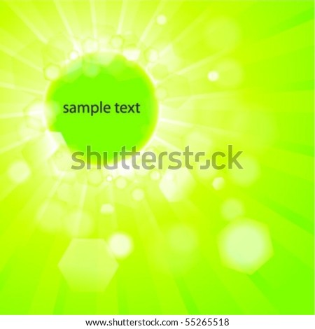 Shiny Abstract Green Background Whit Text Space - stock vector