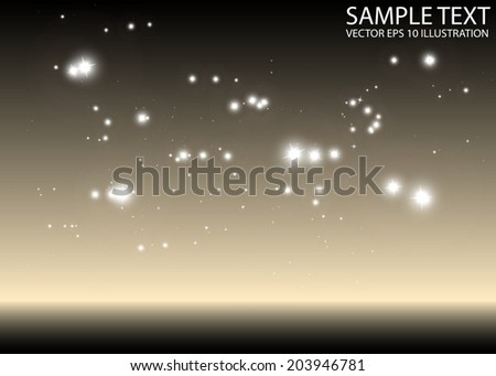 Shiny abstract sparkling space background illustration - Abstract sparkles space background illustration - stock vector
