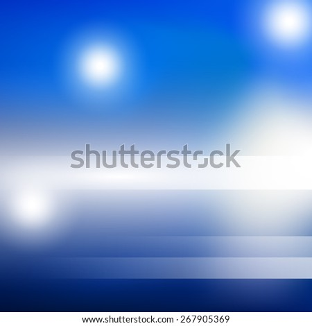 Shiny bblue light background vector illustration for advertising with banner copyspace - stock vector