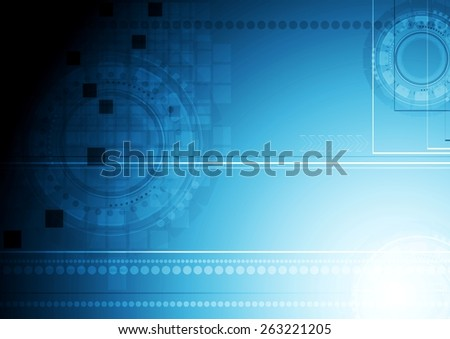 Shiny blue technology background. Vector design - stock vector